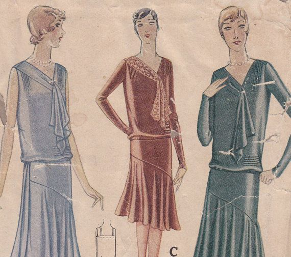 1920s Dress Vintage Sewing Pattern Bust 36 by ViennasGrace on Etsy ...