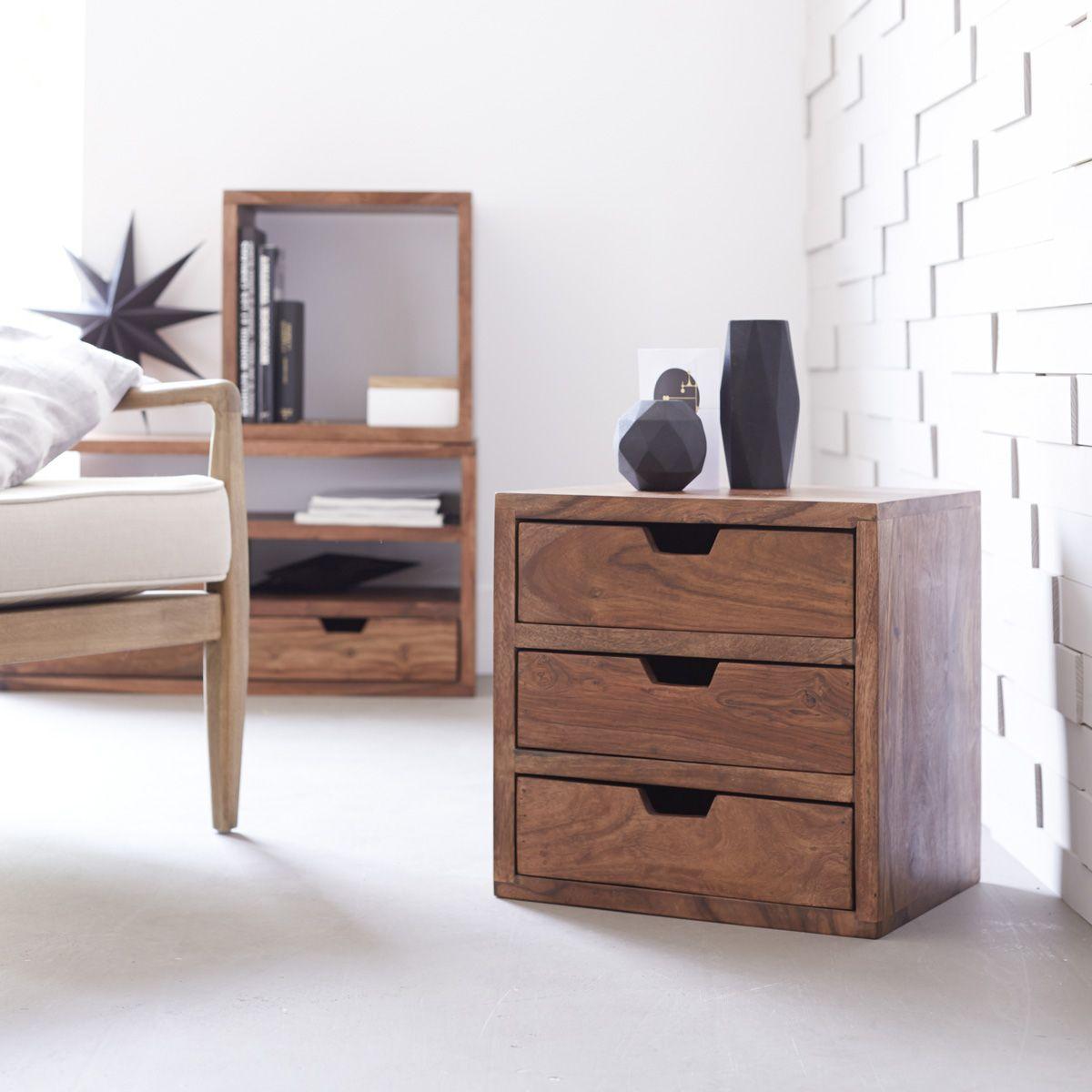 Kwarto Sheesham 3 Drawer Cube 40 | Bedroom | Pinterest | Cube ...