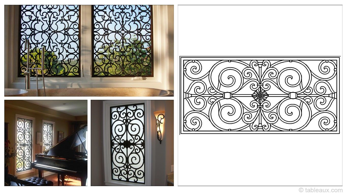 Rectangular 47 23 Inch Tableaux Faux Iron Window Treatments Are Sustainable Fine Home