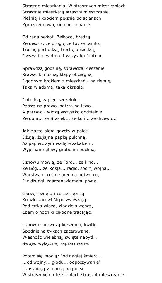 Mieszkańcy Julian Tuwim Poezja Wiersze I Cytaty Z Poezji
