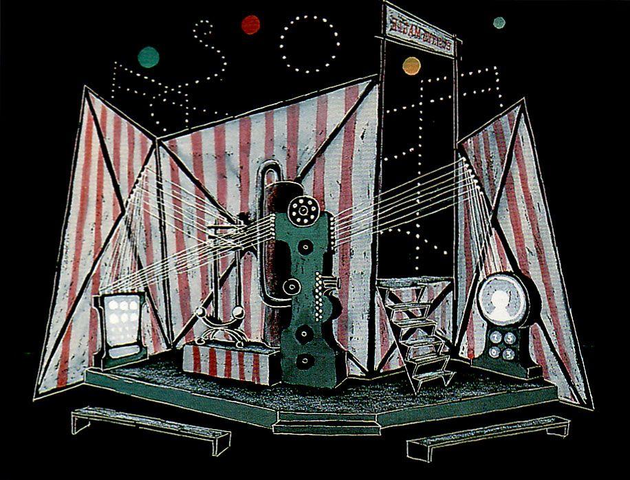 František Muzika. Stage design for Ultimon by H. Soumagne, 1928, gouache, 38.4 x 50 cm, NG Prague.