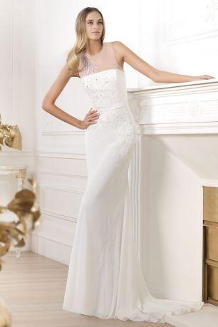 Русалочка свадебное платье из шифона (XKHS-2033)