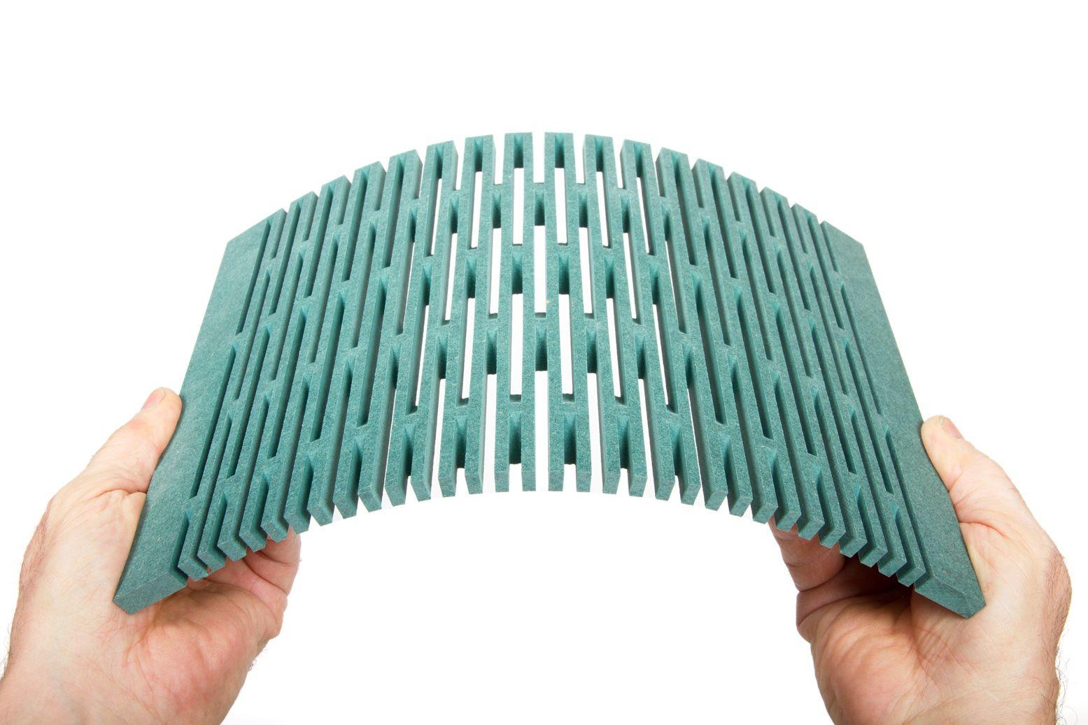 dukta SONAR, MDF color green | dukta | flexible wood | Pinterest
