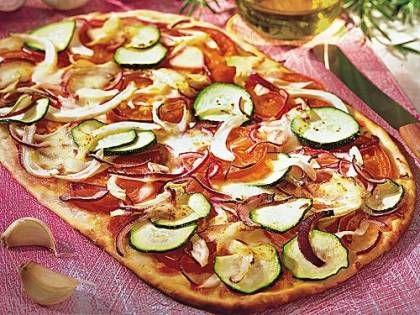 Knusprige Gemüsepizza