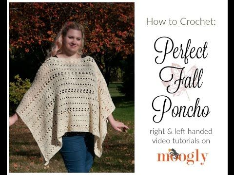 How to Crochet: Perfect Fall Poncho (Right Handed) | Chales tejidos ...