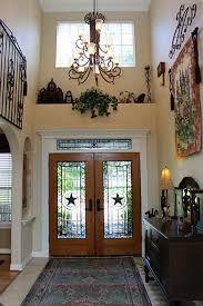 Stair Wall Decor High Ceilings Entryway