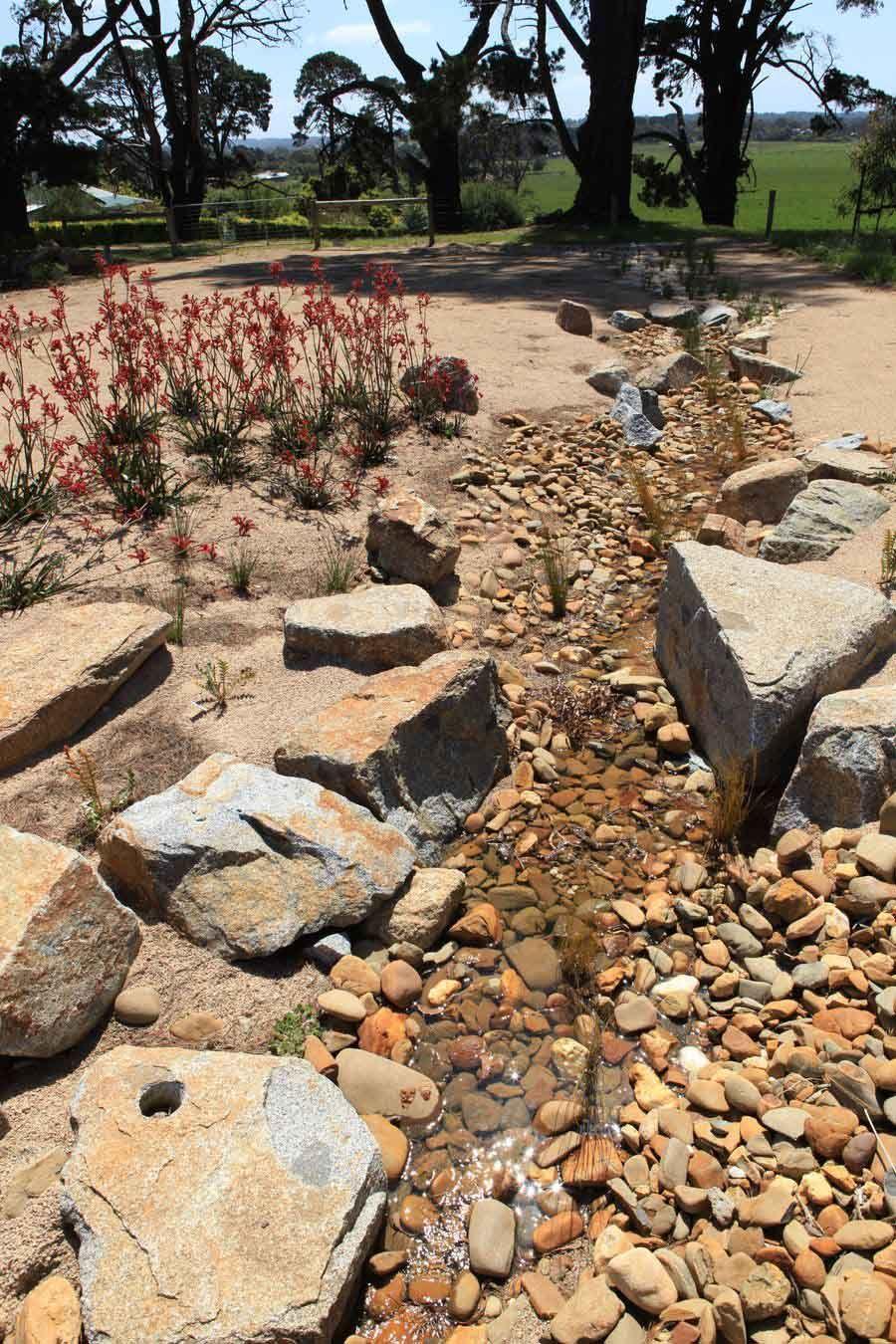 Landscape creek   landscaping   Pinterest   Dry creek bed ...