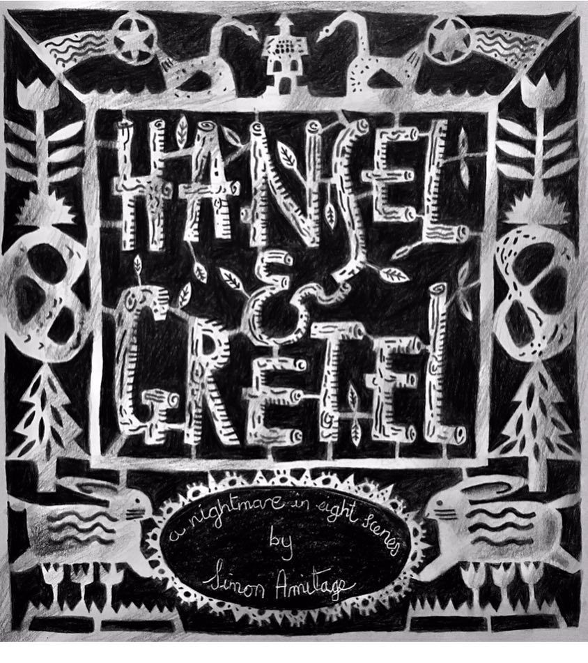 Clive Hicks-Jenkins: Title page for 'Hansel & Gretel (A