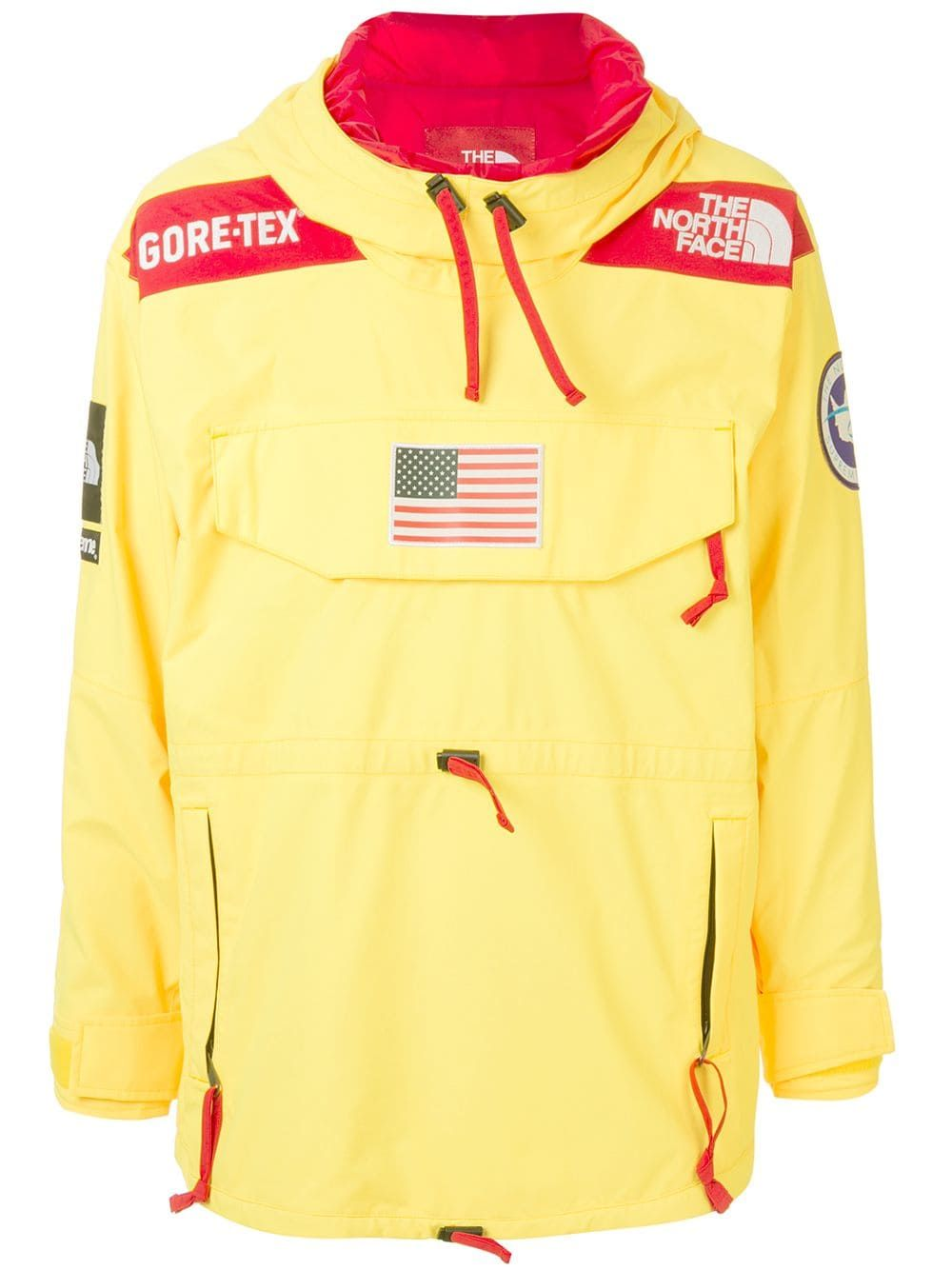 Supreme X The North Face Expedition Pullover Jacket Farfetch In 2021 Pullover Jacket Streetwear Jackets Pullover [ 1334 x 1000 Pixel ]