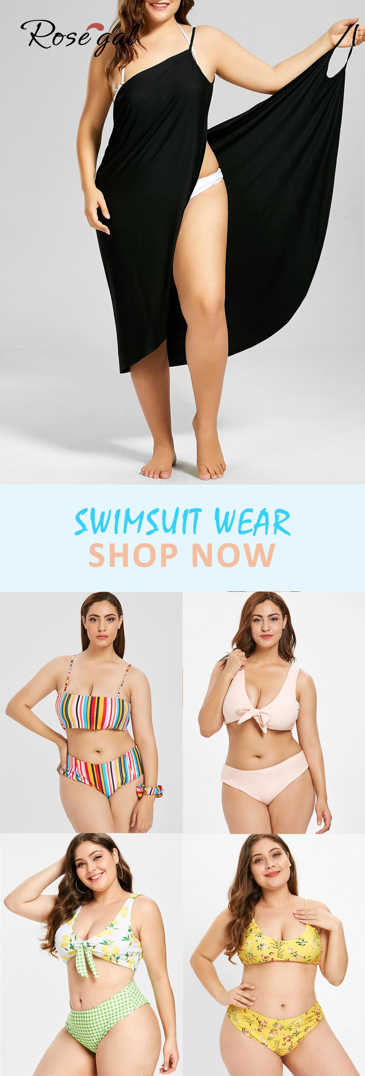8ec0072121 Free shipping over $45, up to 70% off, Rosegal plus size swimsuit ...