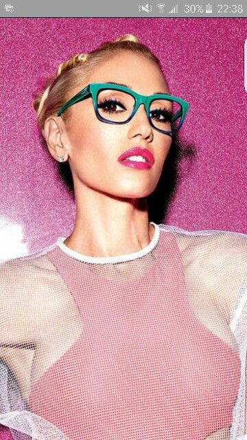 0ac3db8db4 Gwen stefani. Glasses!! Gx collection. Celebrities in specs. Celebrities in  eyeglasses.