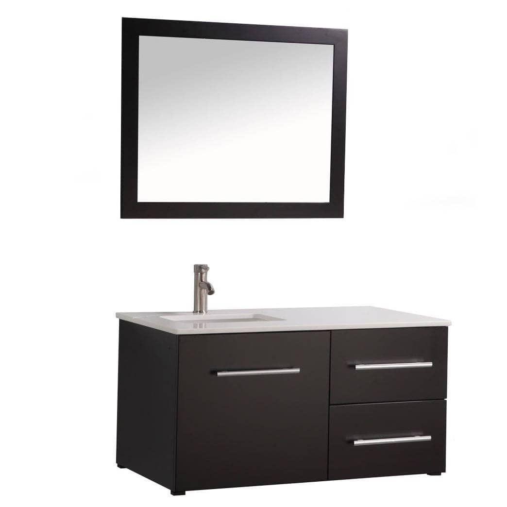 MTD Vanities Nepal Inch Single Sink Wall Mounted Bathroom Vanity - 41 inch bathroom vanity