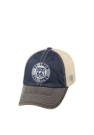 Top of the World St Louis Mens Navy Blue Offroad Adjustable Hat