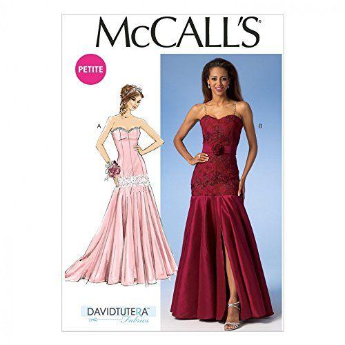 McCalls Ladies Sewing Pattern 7050 Glamorous Evening Dresses: David ...