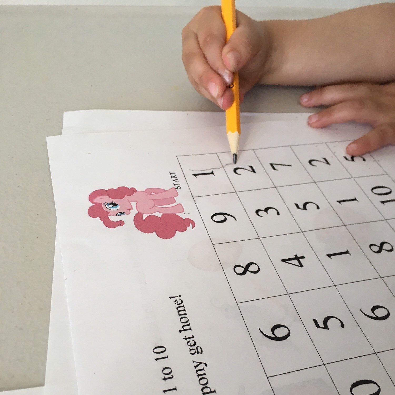 Time For A Little Fun With A Counting Maze Preschool