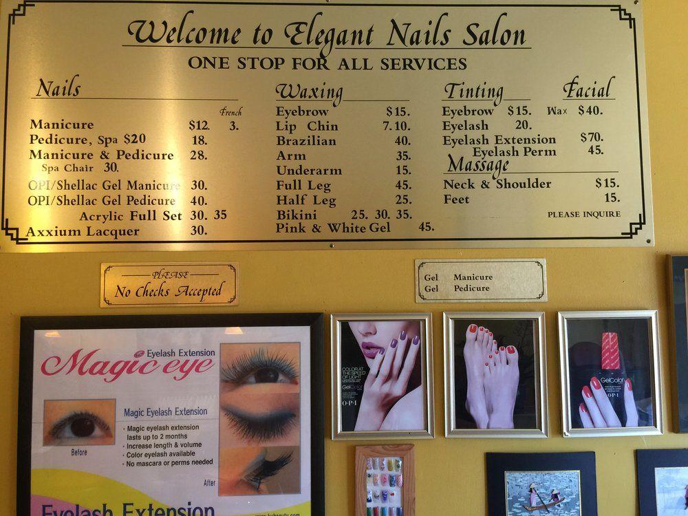 Elegant Nails Salon Service Menu