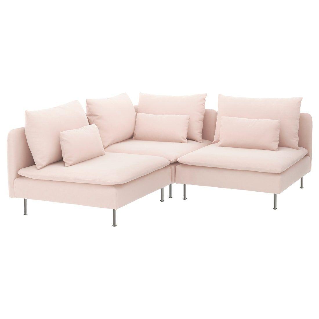 Soderhamn Sectional 3 Seat Corner Samsta Light Pink Sectional