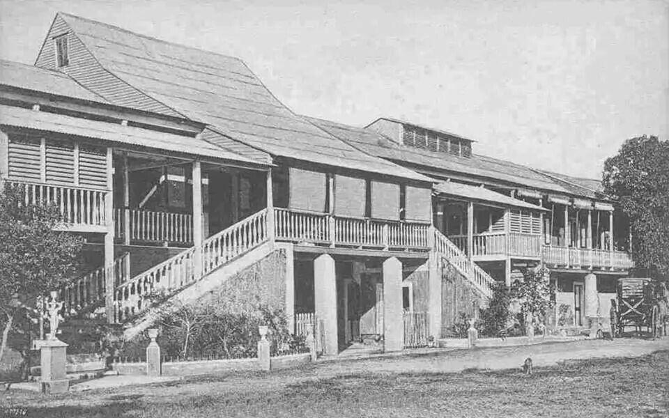 Hotel de los Baños de Coamo 1928, Coamo   Puerto Rico.//Íbamos de paseo a los Baños de Coamos, disfrutamos sus aguas termales. EBR//