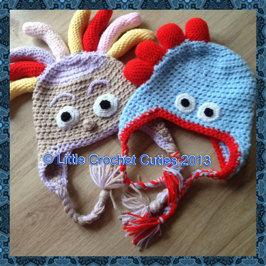 Upsy Daisy and Iggle Piggle style hats xxx Crocheted Work Pinterest Cro...