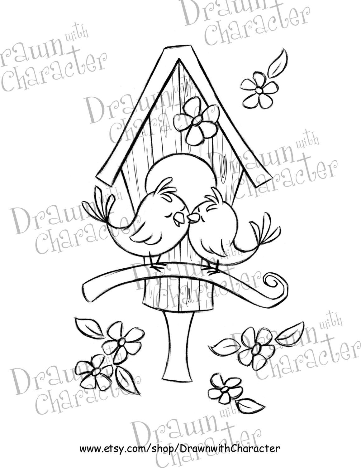 love bird house drawings - Google Search | Doodling gardens ...