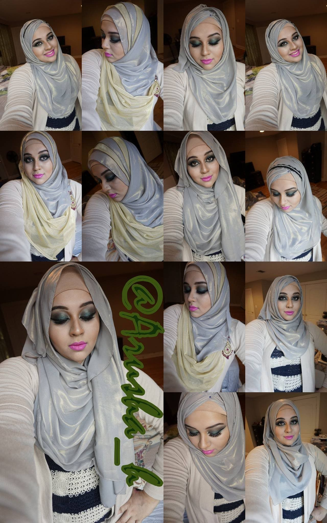 4 Hijab Styles For New Years Party Hijab Style Pinterest