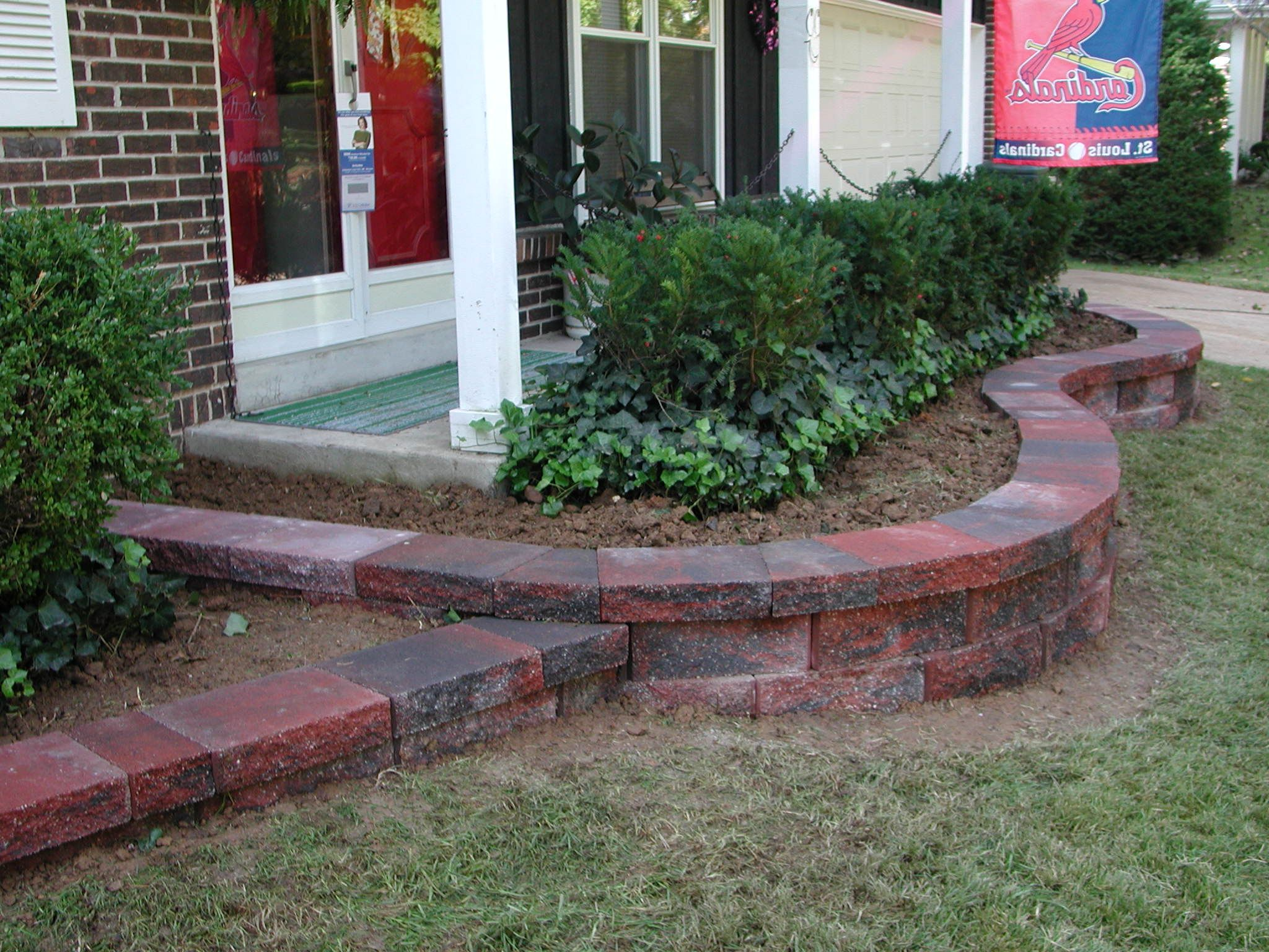 Landscape Brick Retaining Wall Houspiration Porch 400 x 300