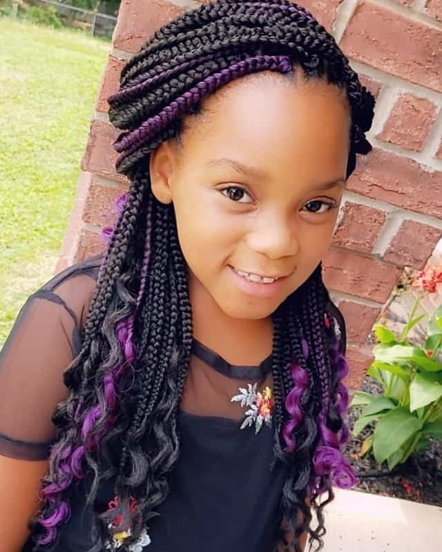 50 Enthralling Crochet Braids For Kids To Try Hairstylecamp Crochet Braids For Kids Braids For Kids Girls Hairstyles Braids