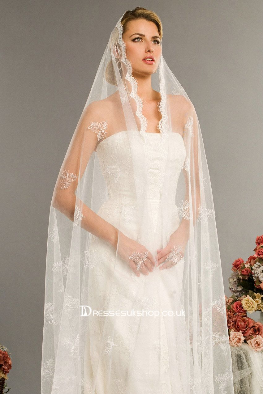 images of wedding gowns & veils | long embroidery veils | Wedding ...