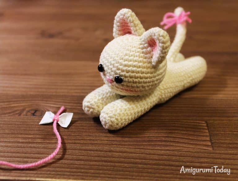 Lying Kitten Amigurumi Pattern Crochet Cat Pattern Crochet