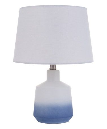 Blue Ombre Ceramic Table Lamp Zulily Zulilyfinds Lamp Ceramic Table Lamps Table Lamp