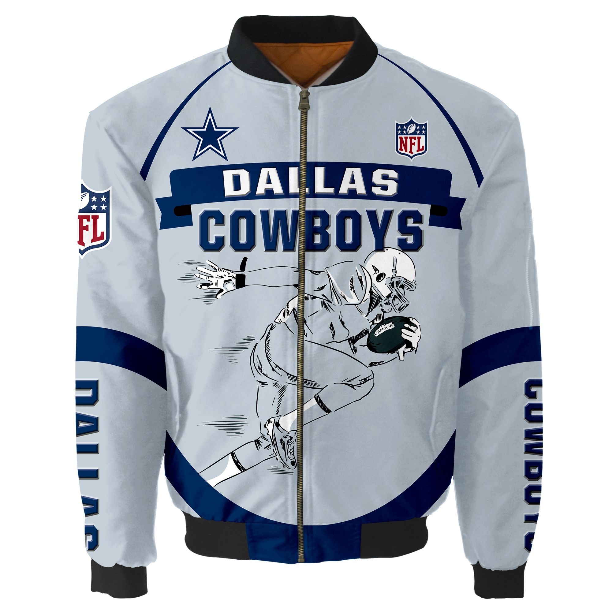Dallas Cowboys Bomber Jacket Men Women CottonPadded Air