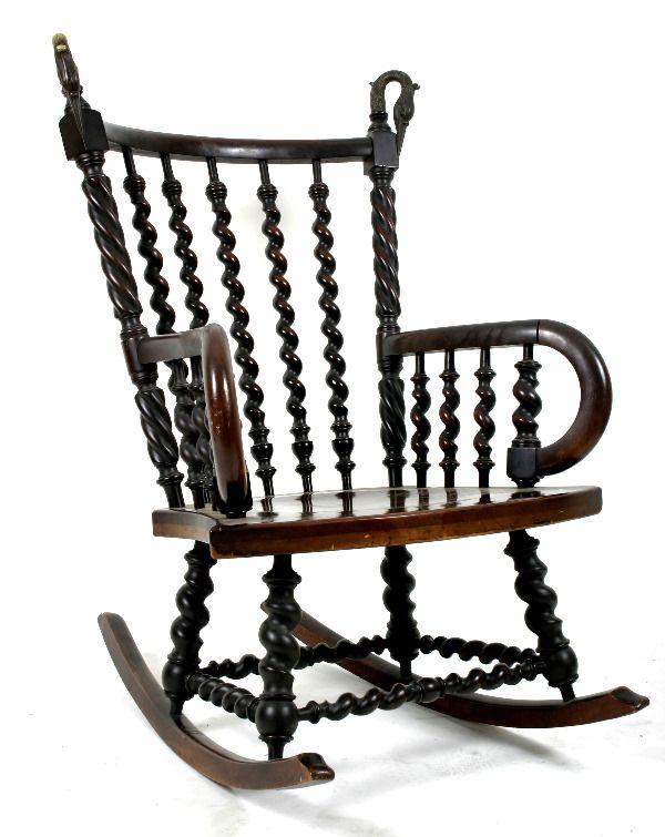 Fine 184 Hunzinger Rocker Possibly Merklen Brothers On Machost Co Dining Chair Design Ideas Machostcouk