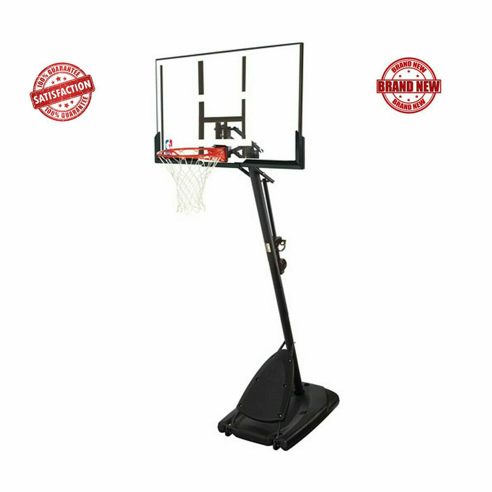 Advertisement Ebay Spalding Nba 54 Portable Angled Basketball Hoop With Polycarbonate Backboard Basketball Hoop Portable Basketball Hoop Basketball