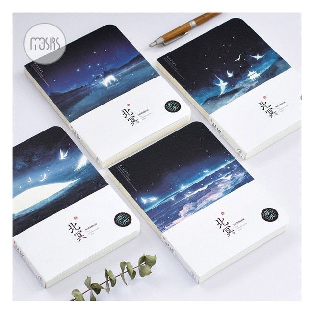 New Creative Notebook 64k Galaxy Dream Imitation Iron Box Notepad Lovely Fresh Book This Hand-painted Office Diary Holiday Gift Notebooks