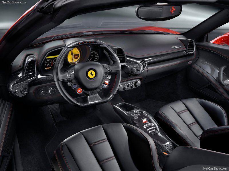 2013 Ferrari 458 Spider Interior With Images Ferrari 458