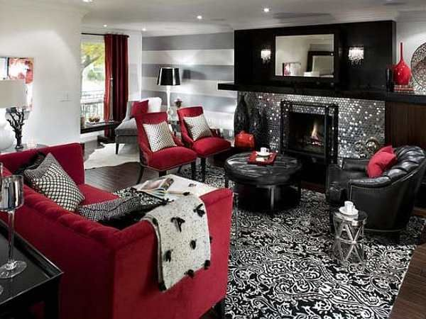 Dust Off White Tie Black Tails To Bid Bon Voyage To Marsala Black Living Room Decor Grey And Red Living Room Red Living Room Decor