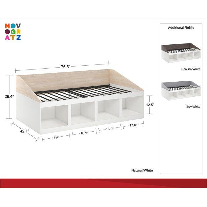Best Novogratz Addison Twin Platform Bed Reviews Wayfair 640 x 480