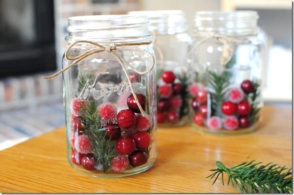Mason Jar Decorations For Christmas Image Source  Projektek Amiket Kipróbálnék  Pinterest  Mason