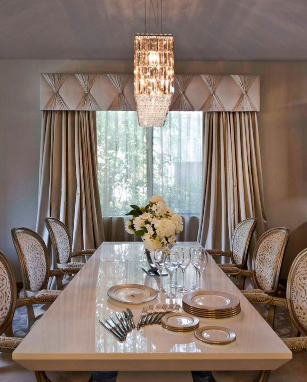 Charles Neal Interiors West Hollywood Home Elegant Dining Room Home Curtains Interior Design
