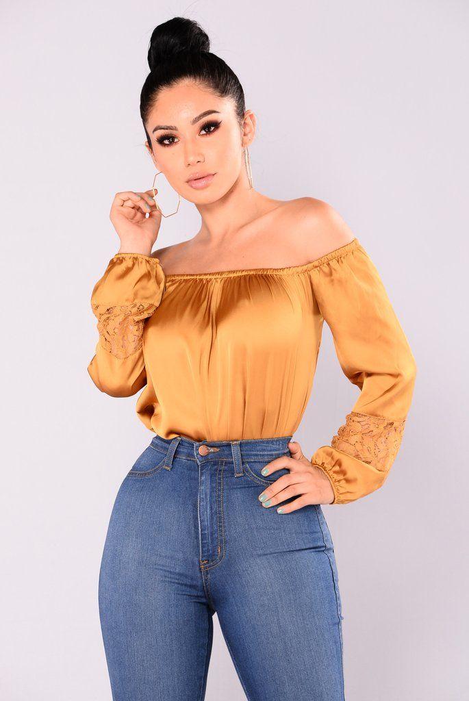 8d401b5701a Cosmo Girl Off Shoulder Top - Dark Mustard | Fashion Nova | Tops ...