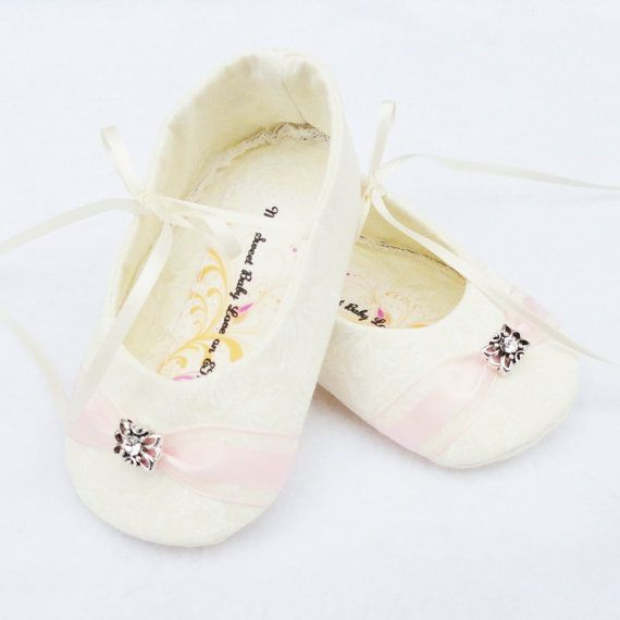 Love these shoes!  They matched her Baptism Gown perfectly!