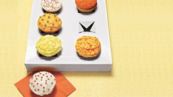 gift box into cupcake holder.