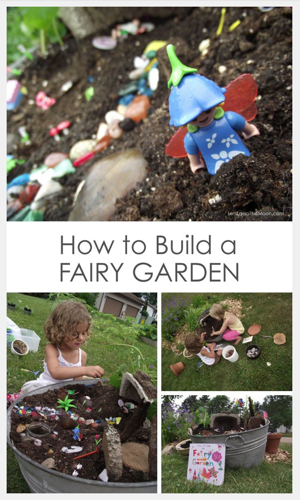 Have some fun with your kids building this Fairy Garden!