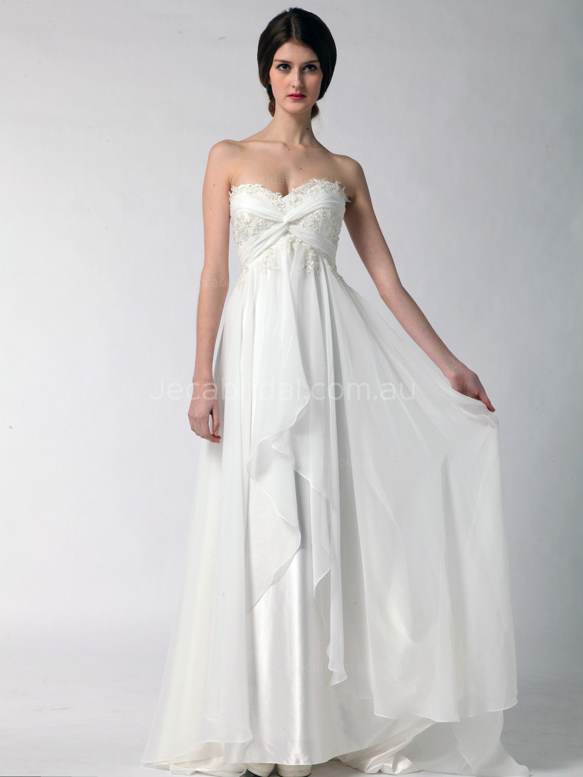 Grecian Goddess Wedding Dress - Stacey - Front | wedding dress ...