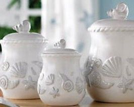 themed kitchen canisters sea shell ceramic canister set ceramic canister set