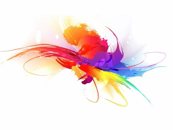 Xoo Plate Artistic Colorful Paint Stroke Vector Background