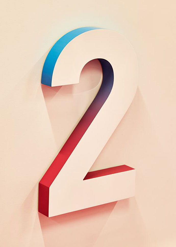 58 Beautiful Numerical Typography Designs – Bashooka #3dtypography