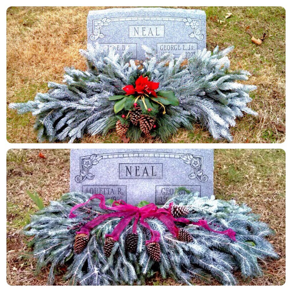 Diy Christmas Grave Decorations: Blanket, Cemetery And