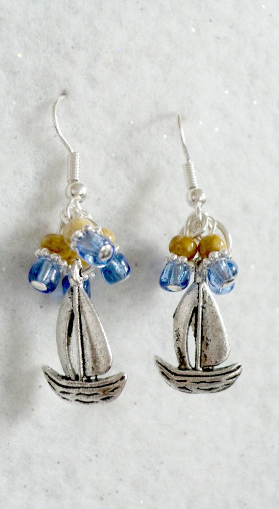 Sailboat Earrings by uniquelyyours2010 on Etsy, $7.25