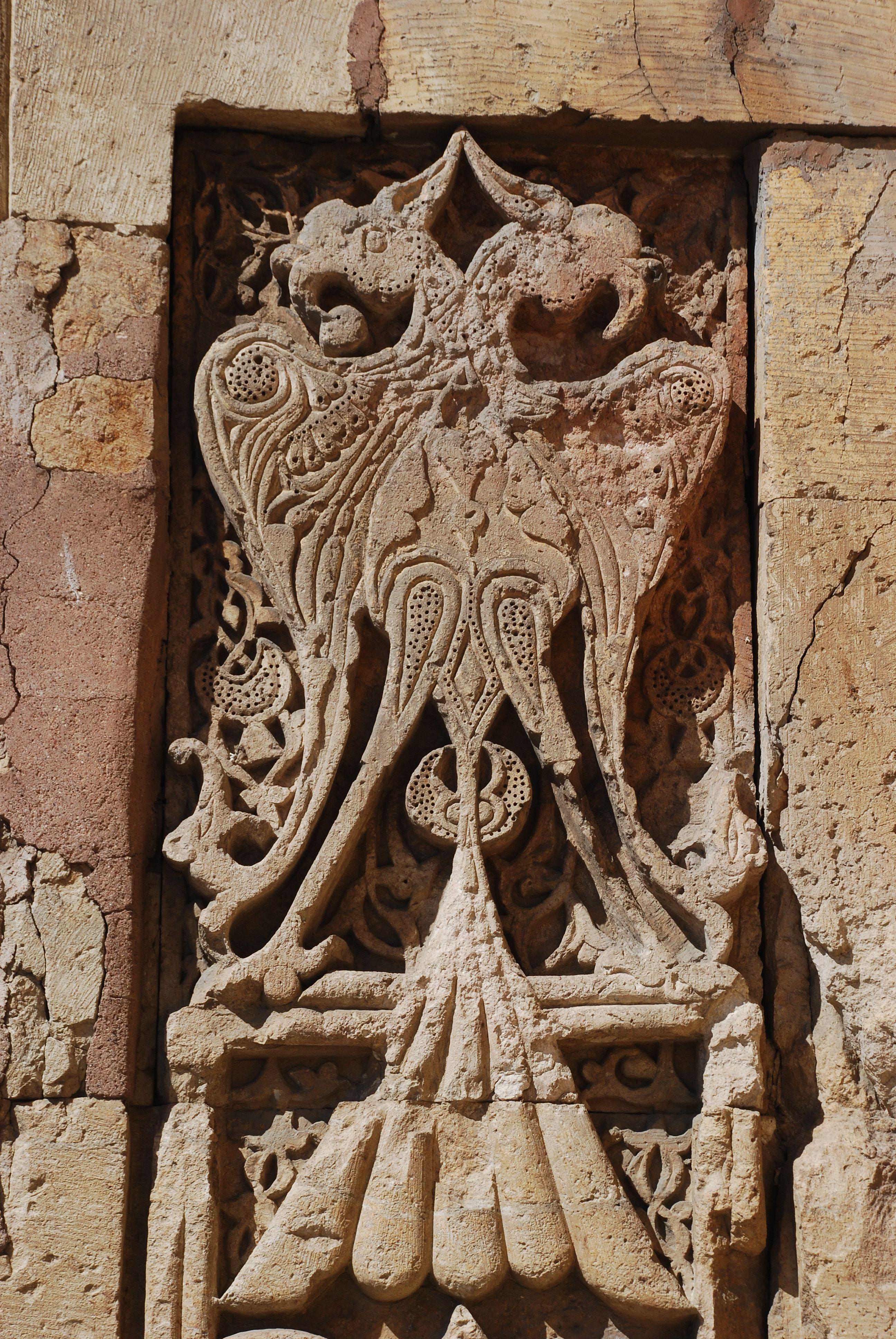 Double headed eagle divrigi great mosque turkey stone